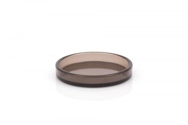 Jahn Untersetzer Kunststoff; Rauchglas; -; innen, 80 mm